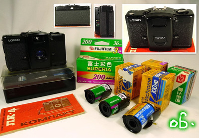LOMO 胶片机、整机完好、前苏联原装塑料盒与说明书、