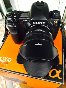 转让自用单反相机SONY A900 适马50F1.4定焦
