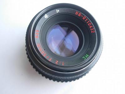 极新中文标记珠江50mmf2MC多层镀膜镜头,PK卡口,可转接各种相机