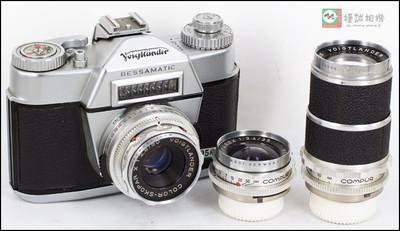 德国 福伦达 bessamatic dkL口 一机三镜头 全金属机械 经典收藏胶片套机