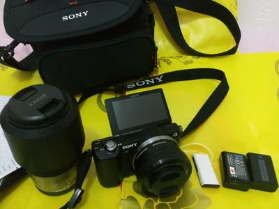 学生党自用索尼 ILCE-5000  配16-50mm、55-210mm双套头