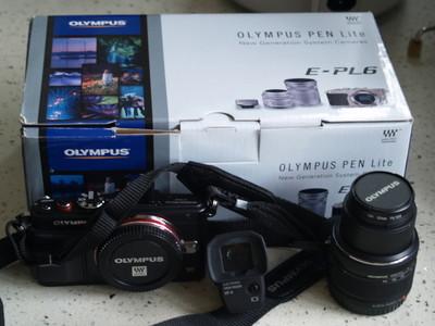 自用奥林巴斯微单 Olympus EPL-6套机,成色超新,有大量赠品
