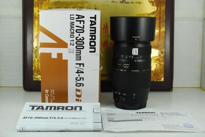 佳能口 腾龙 70-300 F4-5.6 macro A17 单反镜头 中长焦 微距