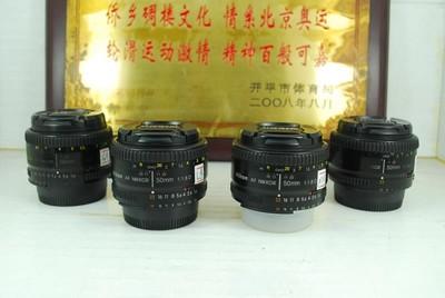 尼康 50mm F1.8D 单反镜头 定焦大光圈人像 标头 可置换
