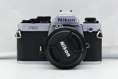 95新二手Nikon尼康 FM2 套 (50/1.4)铝帘胶片机(2788)【深】
