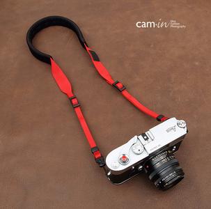 cam-in 棉织舒适款相机背带 红色 CAM1874