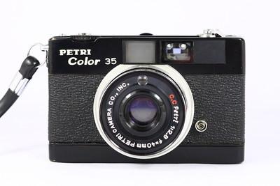 百丽 Petri color 35 日系135胶片旁轴相机 旁轴七剑 黑漆版