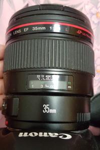 佳能 EF 35mm f/1.4L USM 98新 箱说配件 片纸不少  35L