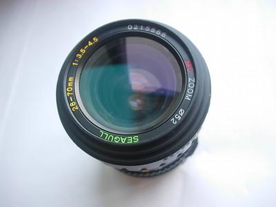 很新海鸥28--70mm金属制造镜头,MD卡口,可配各种胶片和数码相机