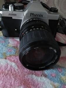 九成新单反胶卷相机附闪光灯相机包三脚架等全套出售