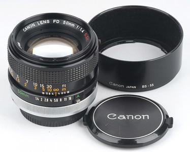 佳能FD50 1.4 Canon FD50mm/f1.4 S.S.C. 红字版 手动标头
