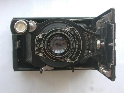 成色很好的柯达Kodak Pocket 1A折叠皮腔相机!