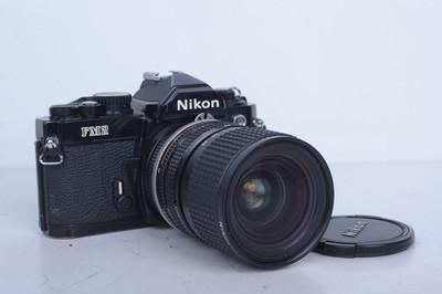 93新二手Nikon尼康 FM2套 (28-85) 胶片机 铝帘(B4658)