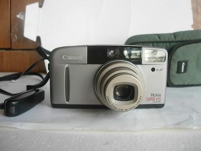 很新佳能115早期经典袖珍相机,前盖顶盖为金属造,有皮套