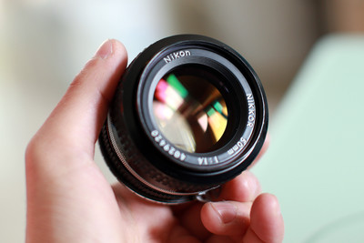 尼康AI 50 1.4 手动老镜头成色一流镜片完美,泰泰时CY80-200