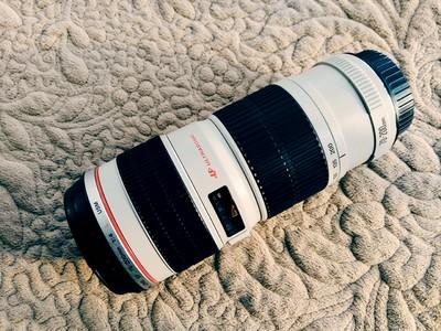 98新佳能 EF 70-200mm f/4L USM(小小白)赠金钟RUPL-43独脚架
