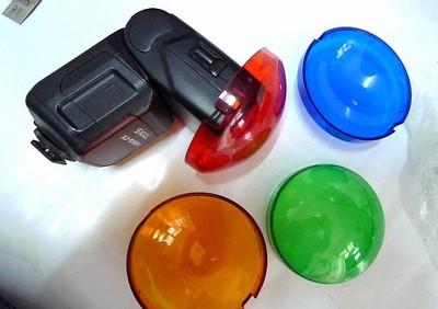影视闪光灯色片(一套四个)暗房洗照片或冲卷,及外拍灯DIY用均可