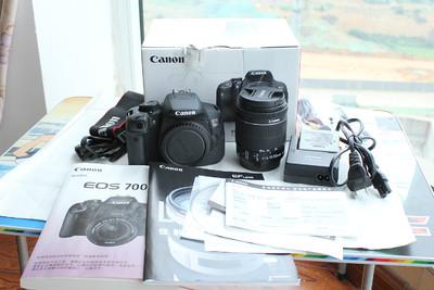 全新佳能\Canon 700D+18-55 STM防抖镜头套机单反相机