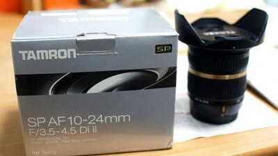 腾龙 AF10-24mm f/3.5-4.5 (B001) 索尼口(原装配件包装齐全)