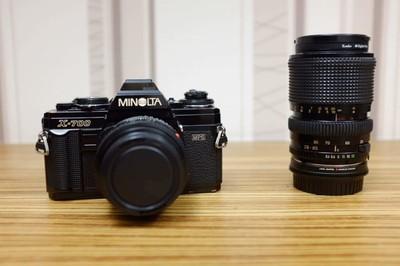 美能达 Minolta X-700 镜头定焦50 1.7 变焦28-85可微距