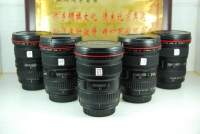 佳能 17-40 F4L USM 单反镜头 全幅超广角 红圈小三元之一 可置换