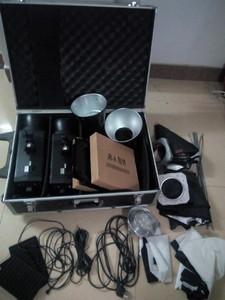 金贝摄影灯套装M-500W瓦闪光灯双灯摄影棚柔光箱