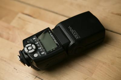 永诺 YN 500EX高速同步 TTL 高速同步 1/8000S 佳能专用闪光灯