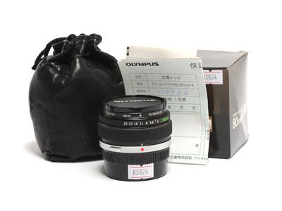 奥林巴斯/Olympus Auto-1:1 80mm F/4 皮腔微距镜头 *如新连盒*