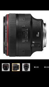 佳能 EF85mm镜头