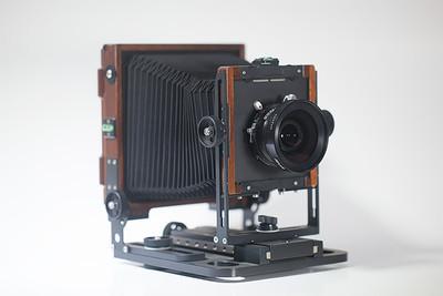 4X5大画幅相机沙慕尼 45N1及仙娜90/6.8镜头及片夹