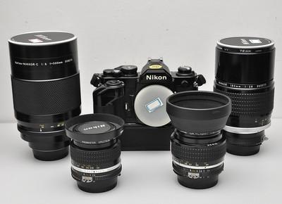 Nikon尼康AIS24镜头  FM2钛帘机身 代友出一堆器材