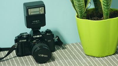 美能达 X-700+镜头28—70mm+28PX经典闪光
