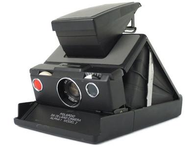 实际测试完动品宝丽来 SX-70 相机α1模型2灰色饰皮 #jp17956