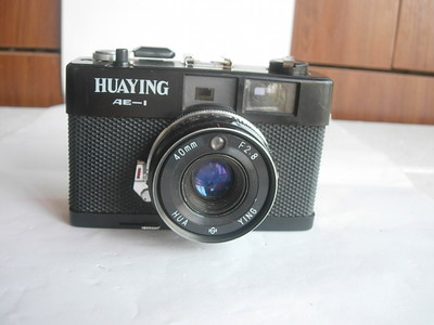 很新华蓥AE--1旁轴相机,有测光,多次曝光功能,镧系镜片成像好