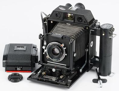 骑士69 带90f5.6 TOPCON HORSEMAN 985 6X9中画幅胶片相机带后背
