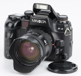 美能达a9 Minolta a9 带AF24-85mm/f3.5-4.5 旗舰135胶片单反相机