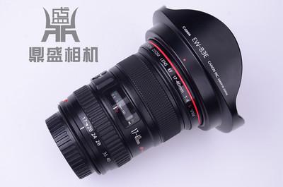 佳能EF 17-40mm f/4L红圈超广角变焦全画幅二手单反镜头 成色很新