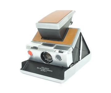 实际测试完动品 宝丽来SX-70 land 相机α1 橘色饰皮 #jp17955