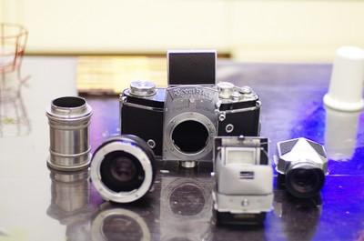 德国EXAKTA VX 35mm单反胶片相机,全套带近摄筒,增距镜,取景器
