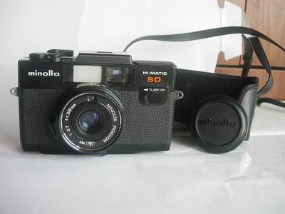 很新美能达SD袖珍相机,35mmf2.8镜头,送原配后座皮套和镜头盖