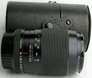 蔡司同级 禄来mc 135mm f2.8镜头 尼康口