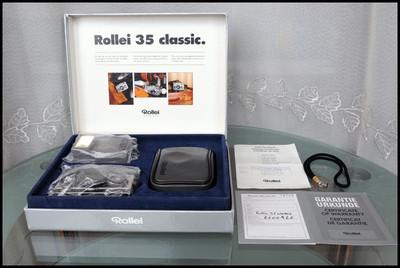 Rollei 35 classic 钛金机,收藏佳品,带原包装!