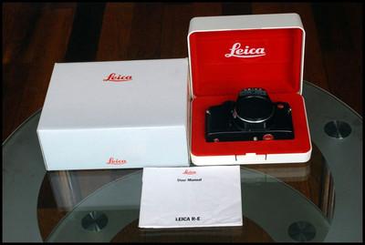 Leica R-E 单反机身,带原包装、说明书!
