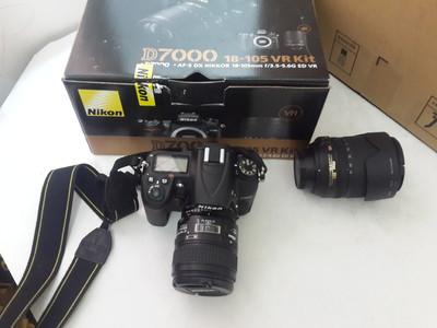 尼康D7000套机18-105VR镜头带60微距镜头快门13000个人用机
