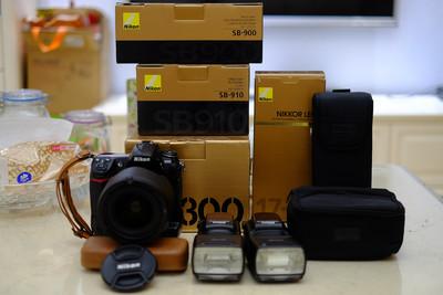 (再次降价)尼康 D300+17-55ED+SB910+SB900