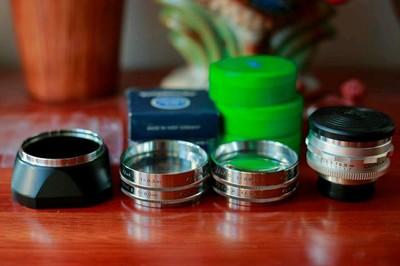 septon 50f2福伦达塞破铜全套近摄镜遮光罩胶片机胶卷机单反镜头