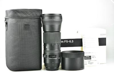 98新 适马 150-600mm f/5-6.3 DG OS HSM Contemporary 佳能口