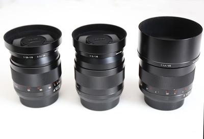蔡司 28mm f/2 ZE、35mm /F2 ZE、85mm/1.4 ZE