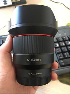 美版三阳Samyang 14mm f/2.8索尼全画幅E卡口自动头99新