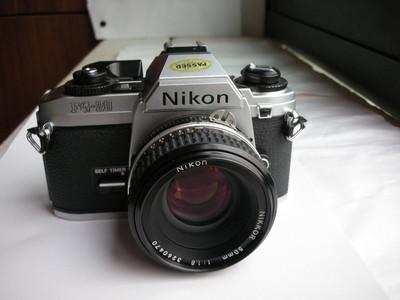 极新Nikon FG20白色机身带50mmf1.8AIS镜头,收藏使用上品